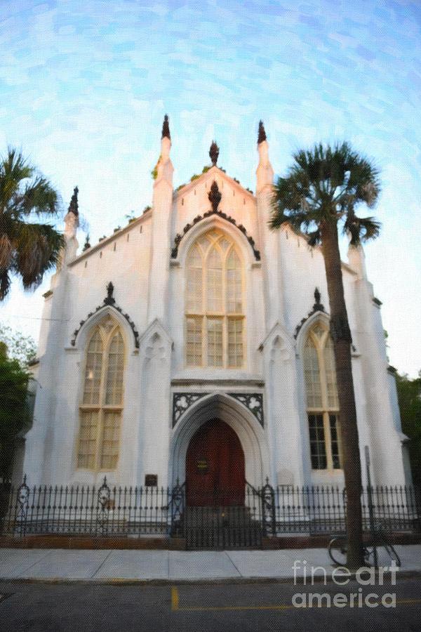 Downtown Charleston Church Digital Art