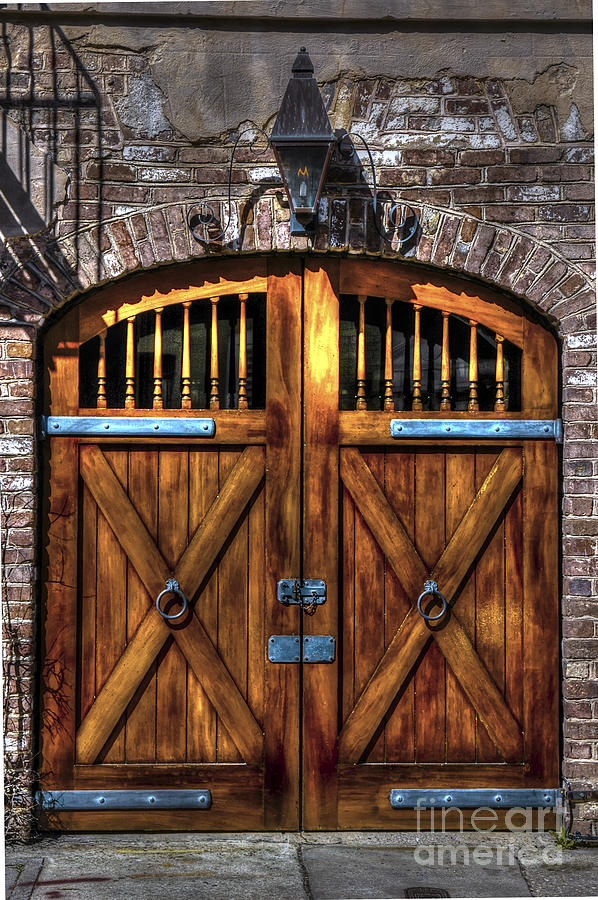 Downtown Charleston Sc Doors Photograph
