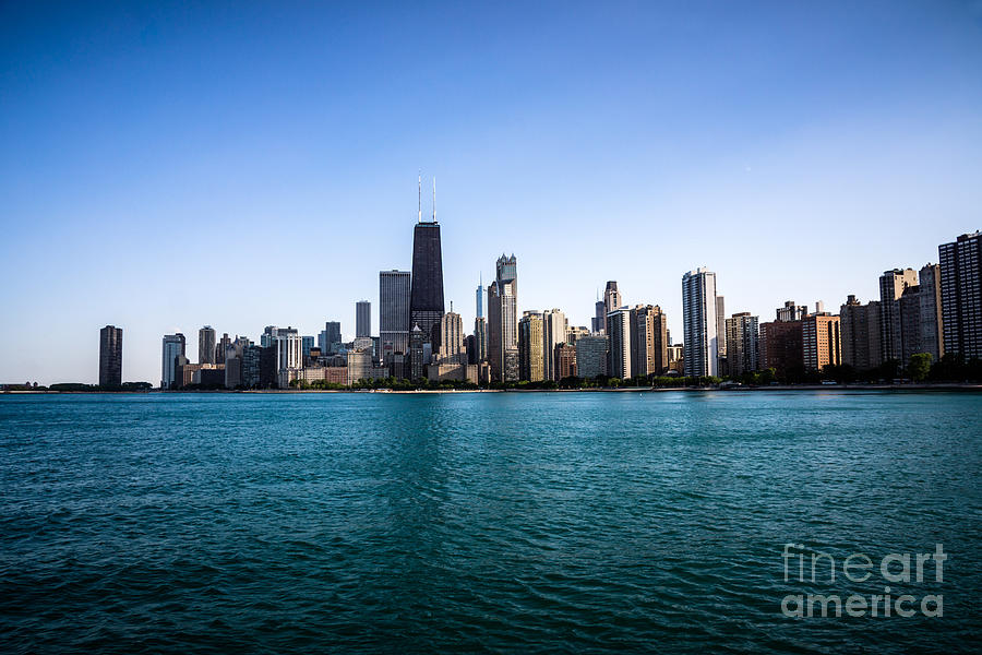 Downtown City Buildings In The Chicago Skyline Photograph  - Downtown City Buildings In The Chicago Skyline Fine Art Print