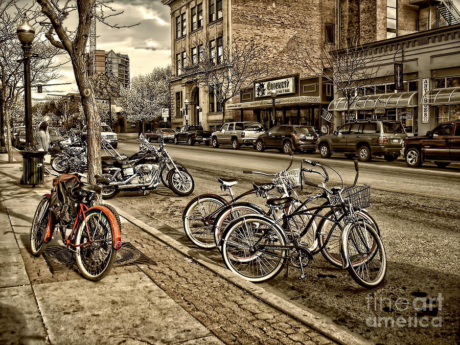 Downtown Coeur Dalene Idaho Photograph  - Downtown Coeur Dalene Idaho Fine Art Print