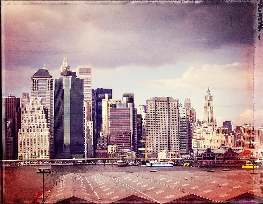 Downtown From Brooklyn Photograph  - Downtown From Brooklyn Fine Art Print
