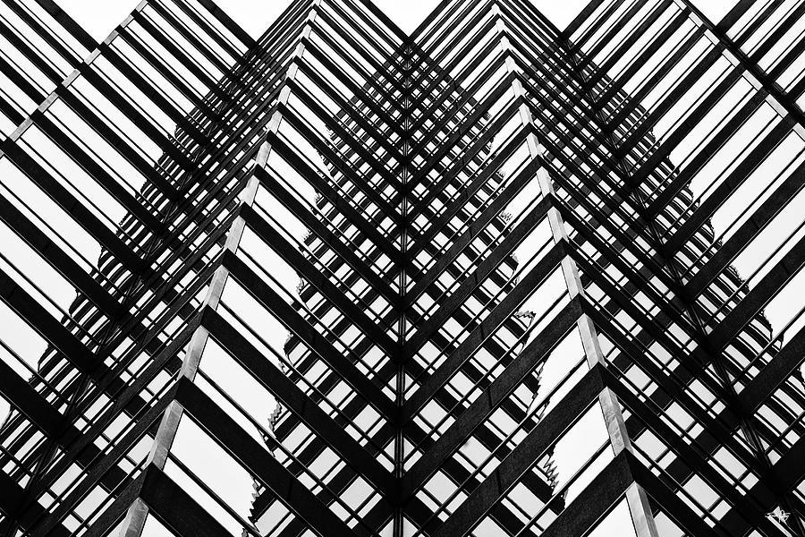 Black & White Photograph - Downtown High Rise by Scott Pellegrin