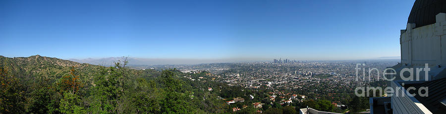 Downtown La From Griffith Observatory Photograph
