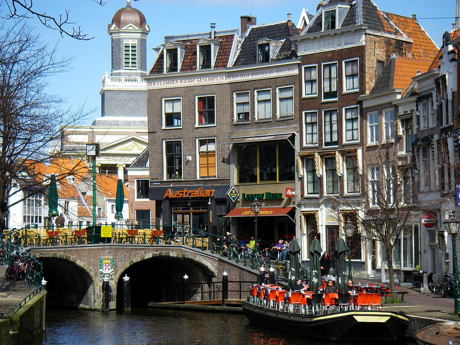 Downtown Leiden Holland Netherlands Photograph
