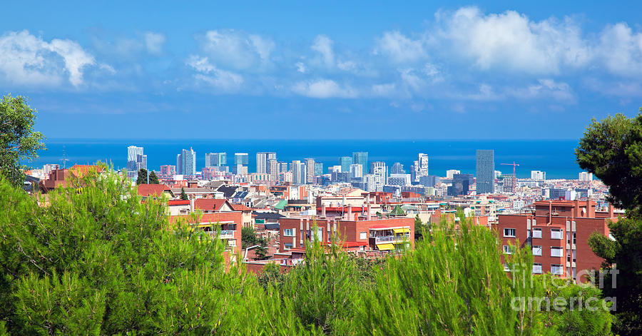 Downtown Panorama Of Barcelona Photograph