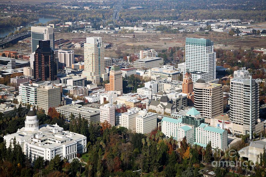 Downtown Sacramento And Capitol Park Photograph
