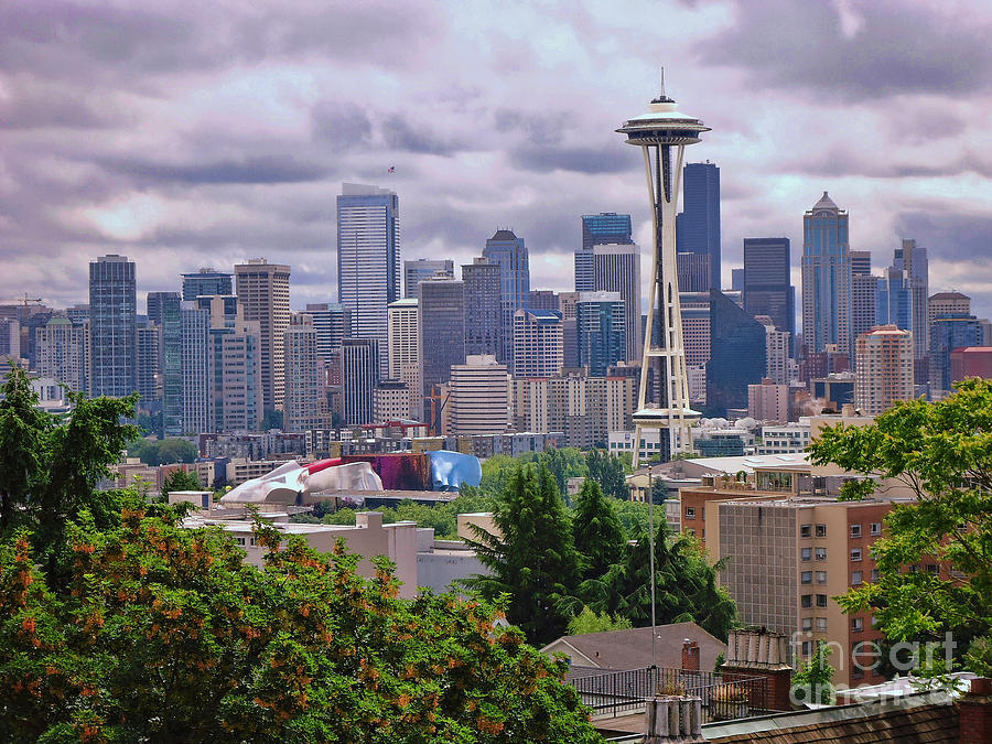 Seattle Photograph - Downtown Seattle From Kerry Park by Allen Beatty