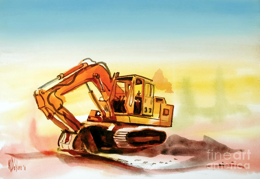 Dozer October Painting  - Dozer October Fine Art Print