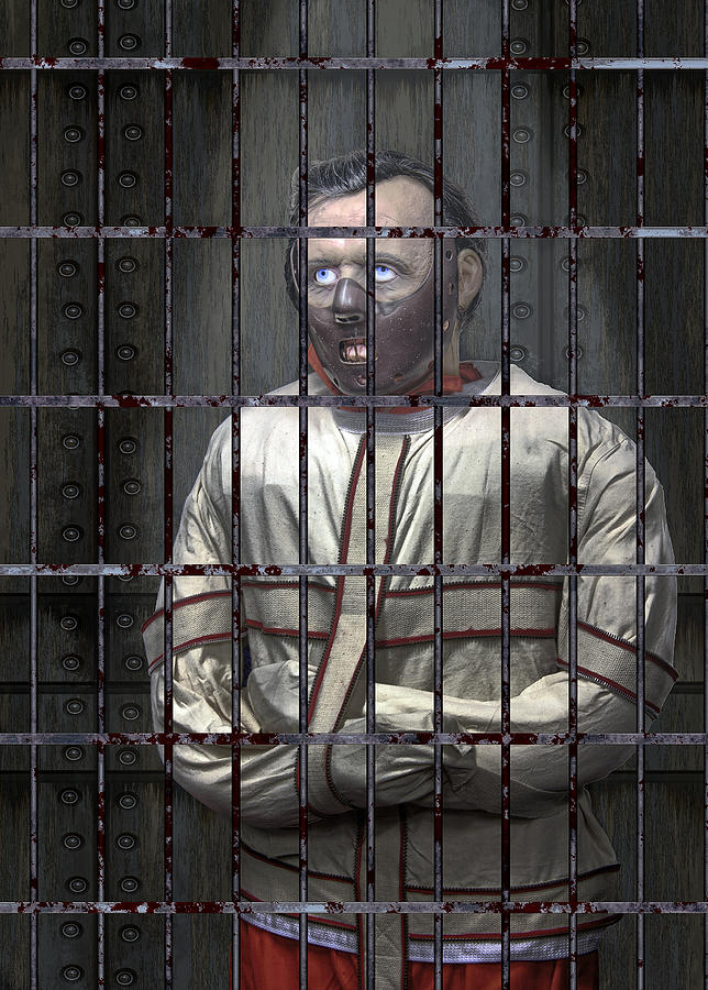 Dr. Lecter Restrained Digital Art  - Dr. Lecter Restrained Fine Art Print