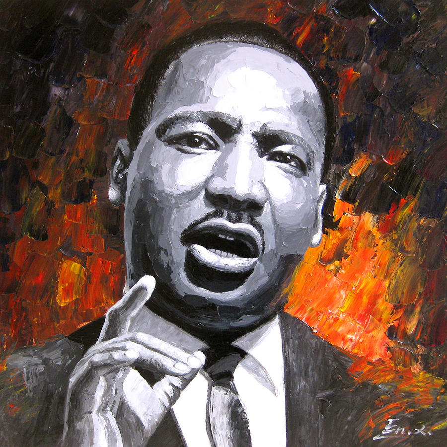 Dr. Martin Luther King Painting by Enxu Zhou