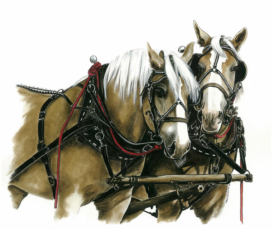 Draft Horses Painting  - Draft Horses Fine Art Print
