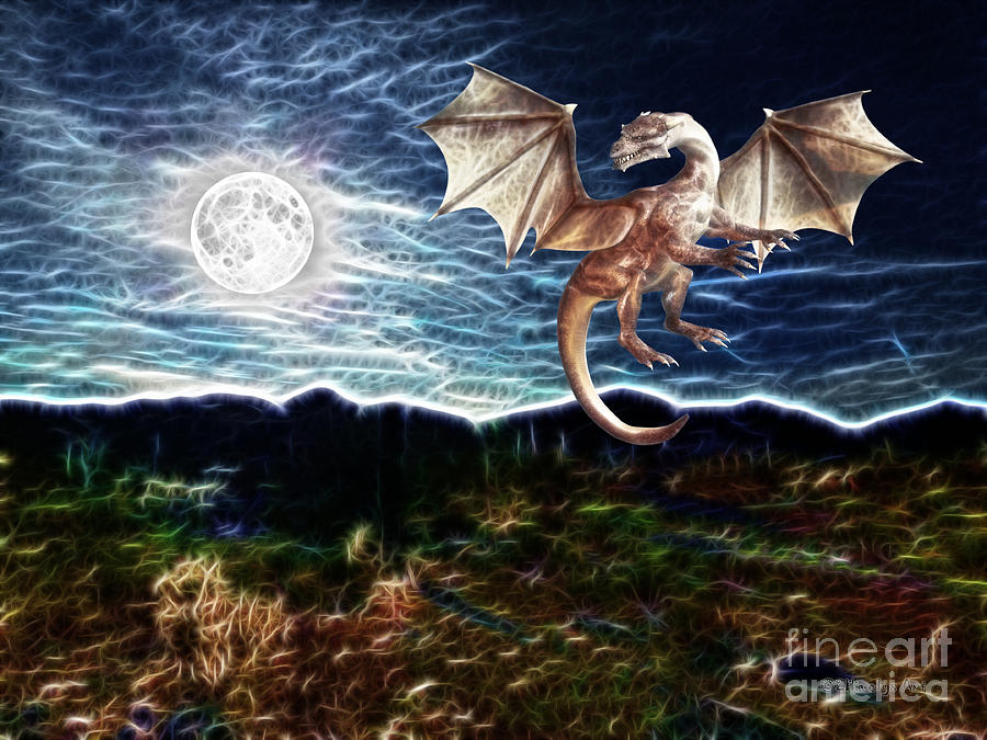 Dragon Night Painting by Methune Hively