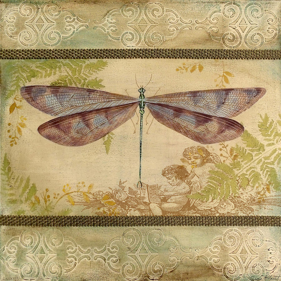 Dragonfly And The Angel 4 Painting By Jean Plout