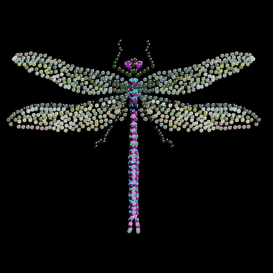 Dragonfly Bedazzled Digital Art  - Dragonfly Bedazzled Fine Art Print