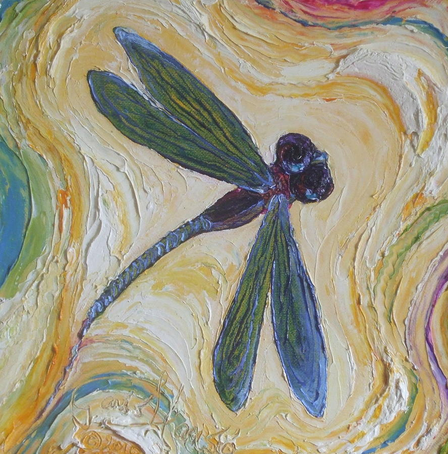 Dragonfly Paintings Painting - Dragonfly II by Paris Wyatt Llanso