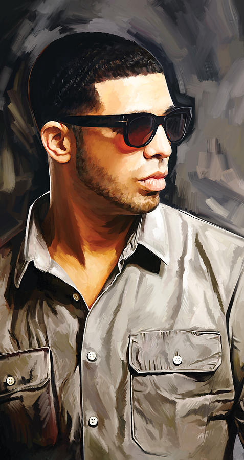 Drake Paintings Painting - Drake Artwork 2 by Sheraz A
