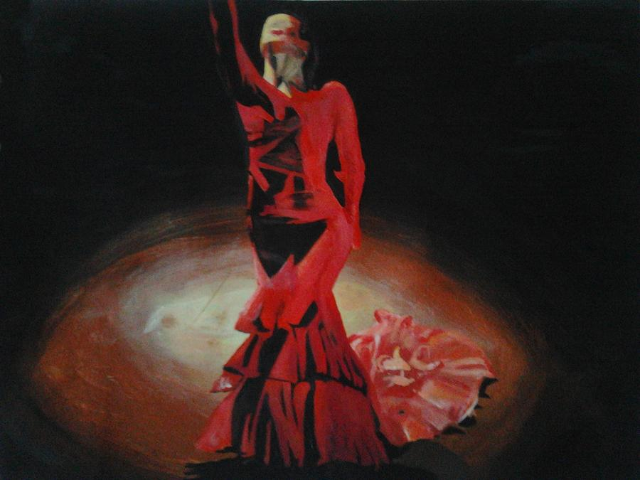 Dramatic In Scarlet Painting  - Dramatic In Scarlet Fine Art Print