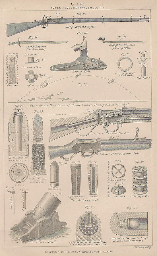 Drawings Of Gun Parts Drawing  - Drawings Of Gun Parts Fine Art Print