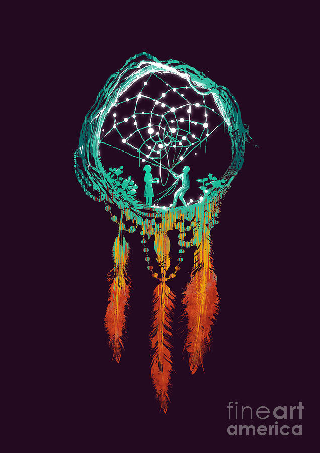Dream Catcher Digital Art  - Dream Catcher Fine Art Print