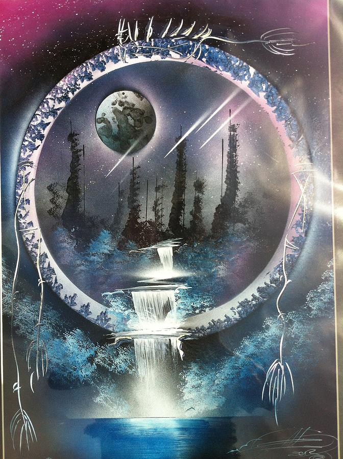 Dream catcher painting by edgar herrera for Dream catcher spray painting