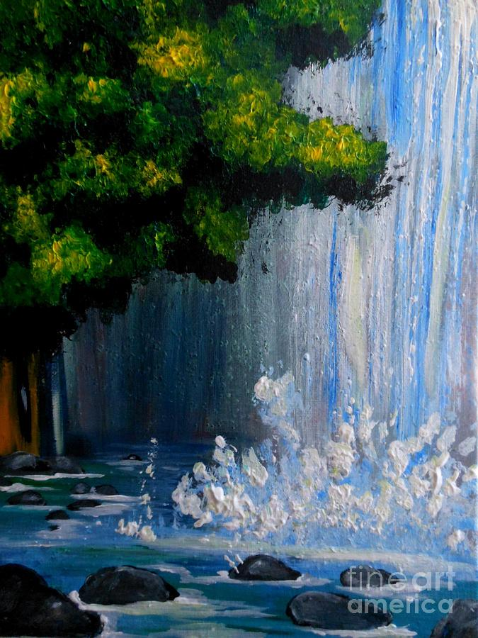Dream Falls Painting  - Dream Falls Fine Art Print
