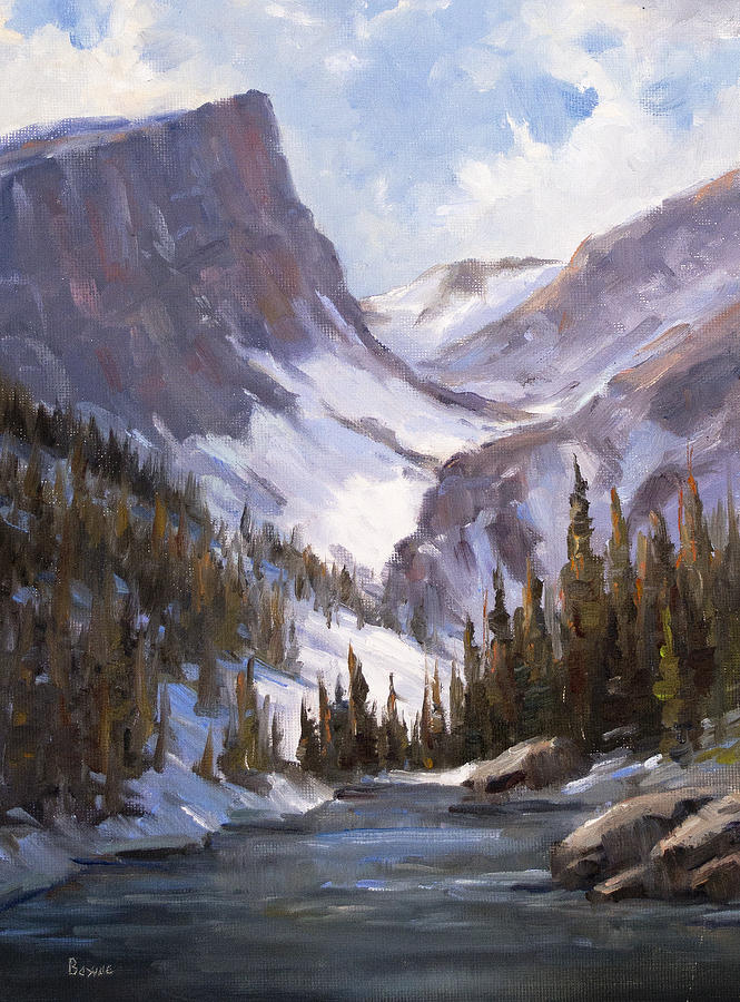 Dream Lake Painting  - Dream Lake Fine Art Print