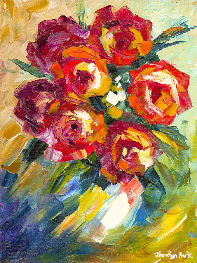 Dream Roses Painting  - Dream Roses Fine Art Print