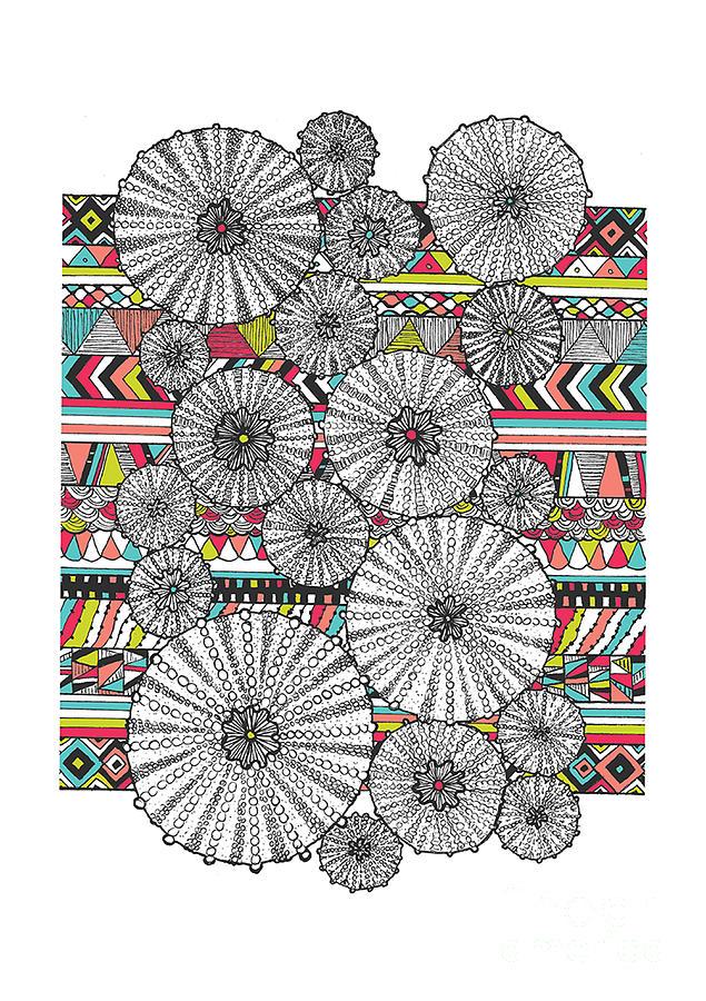 Navajo Digital Art - Dream Urchins by Susan Claire