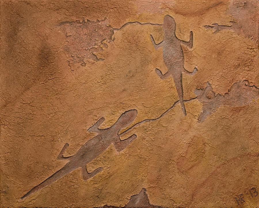 Petroglyph Relief - Dream Walkers by Katie Fitzgerald