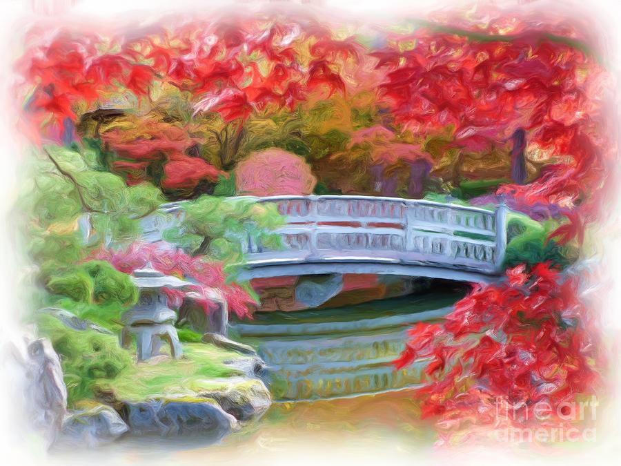 Dreaming Of Fall Bridge In Manito Park Photograph  - Dreaming Of Fall Bridge In Manito Park Fine Art Print