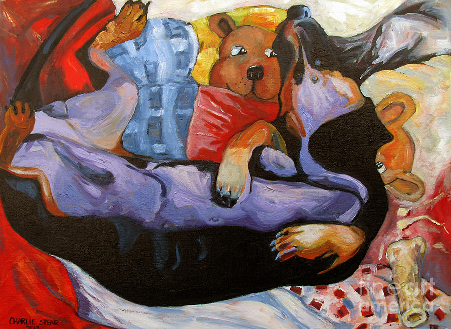 Dachshund Painting - Dreamland by Charlie Spear