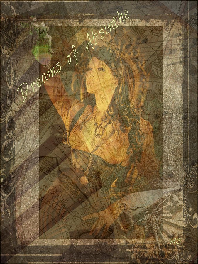 Dreams Of Absinthe - Steampunk Digital Art  - Dreams Of Absinthe - Steampunk Fine Art Print