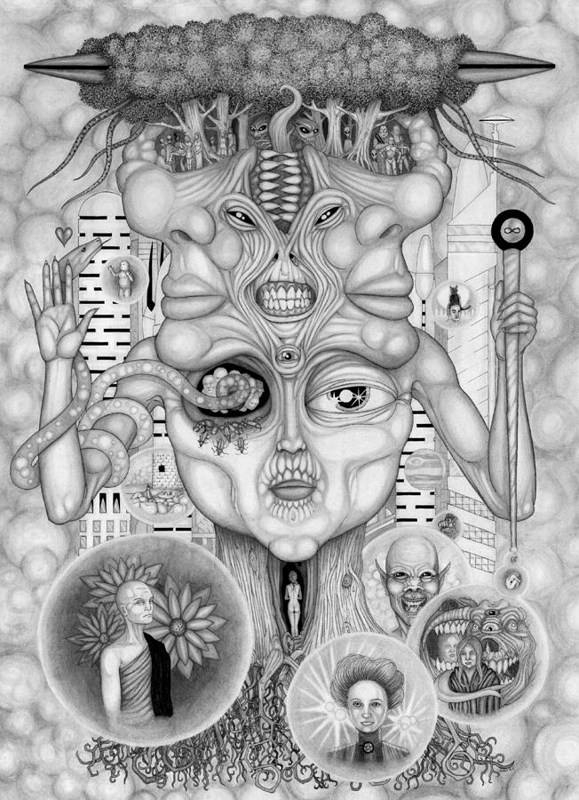 Dreams Of The Deity Drawing
