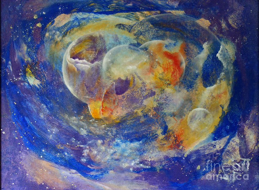 Abstract Painting - Dreamscape by Valia US