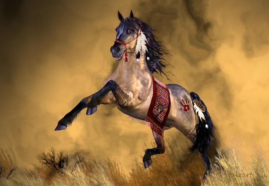 Horse Art Painting - Dreamweaver by Valerie Anne Kelly