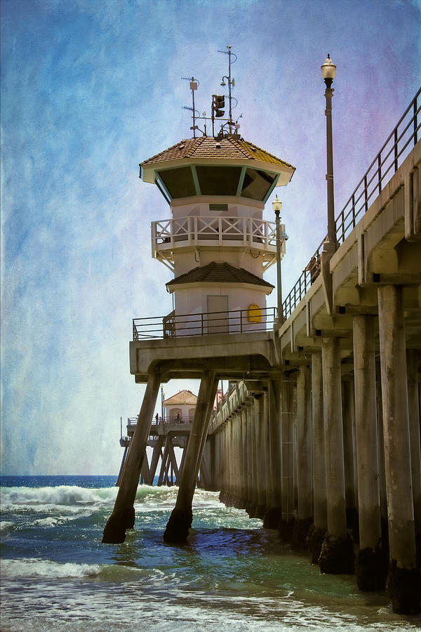 Dreamy Day At Huntington Beach Pier Photograph