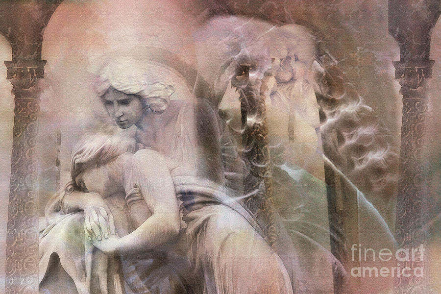 Dreamy Ethereal Impressionistic Angel Art  Photograph