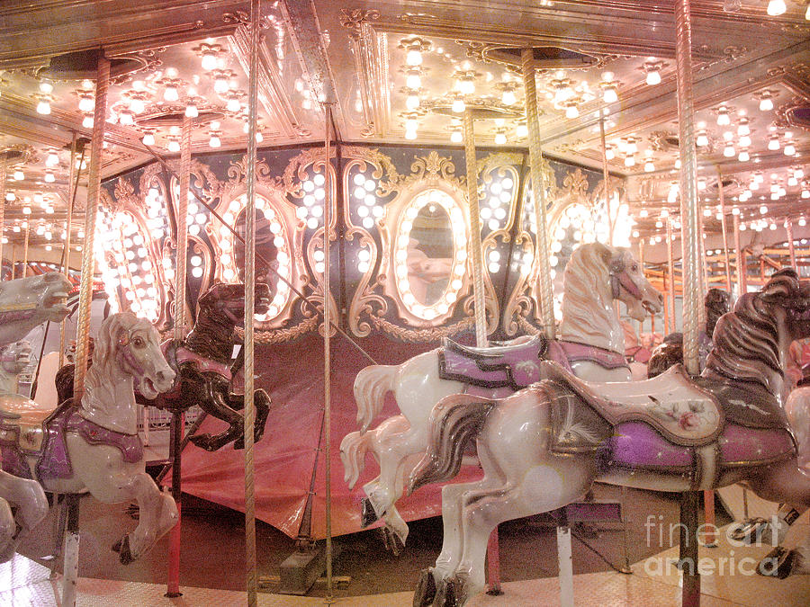 Dreamy Pink Carnival Carousel Merry Go Round Horses Festival ...
