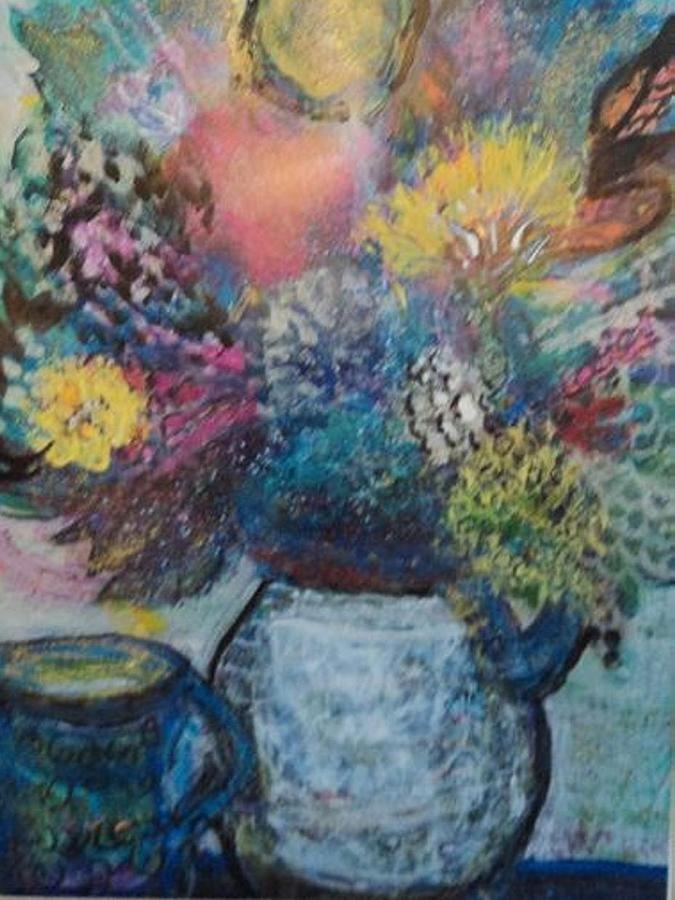 Dreamy Painting - Dreamy Whimsical Floral  by Anne-Elizabeth Whiteway