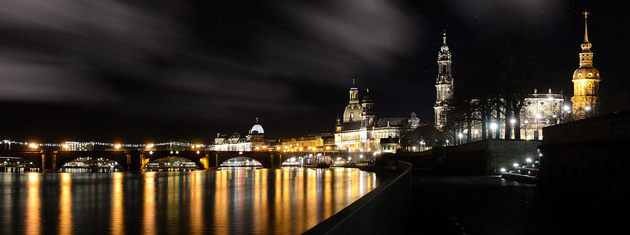 Dresden At Night Photograph  - Dresden At Night Fine Art Print