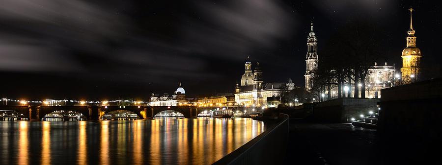 Dresden Photograph - Dresden At Night by Steffen Gierok