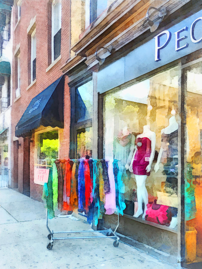 Dress Shop Hoboken Nj Photograph  - Dress Shop Hoboken Nj Fine Art Print