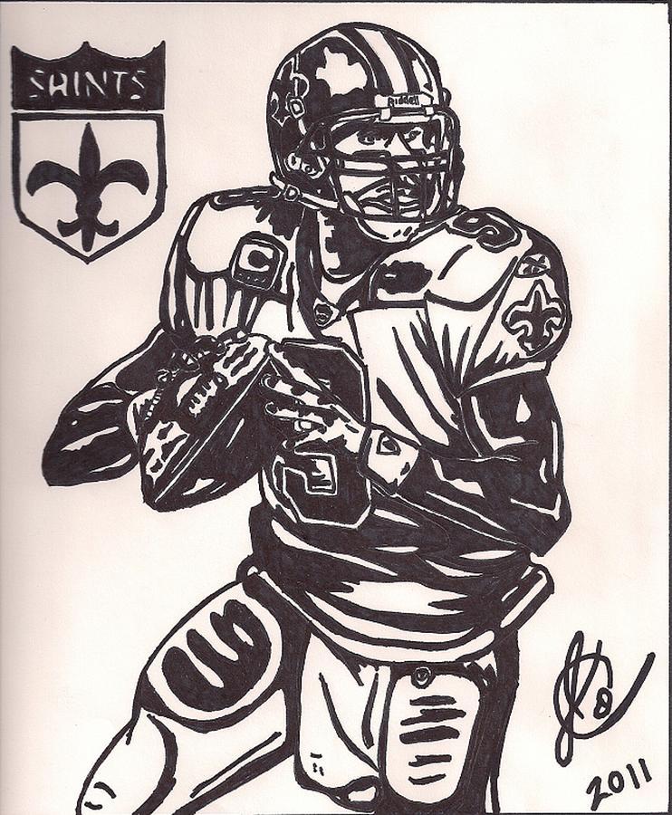 Drew Brees Drawing