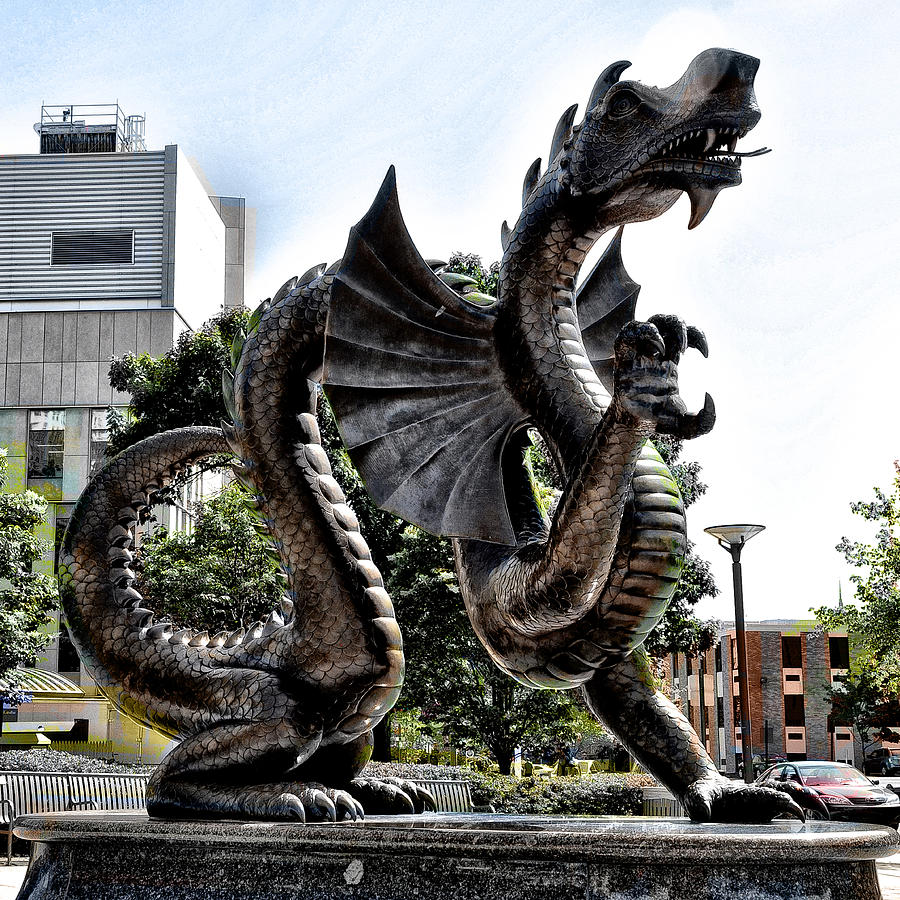 Drexel University Dragon Photograph  - Drexel University Dragon Fine Art Print
