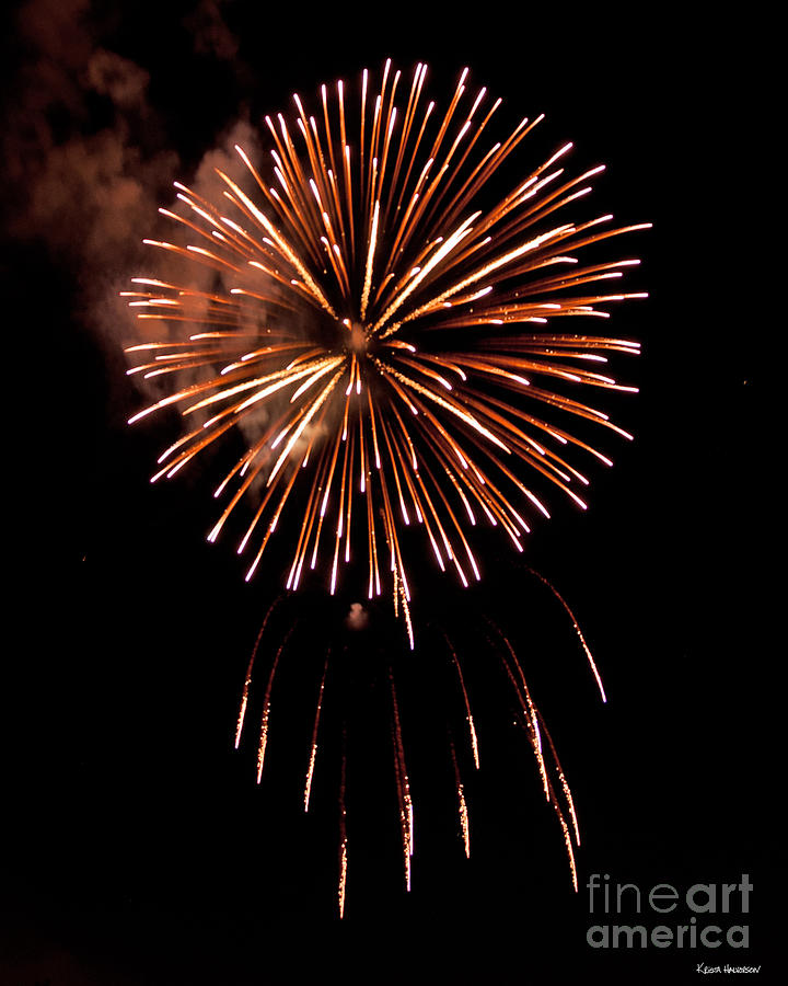 Dripping Fireworks Photograph  - Dripping Fireworks Fine Art Print