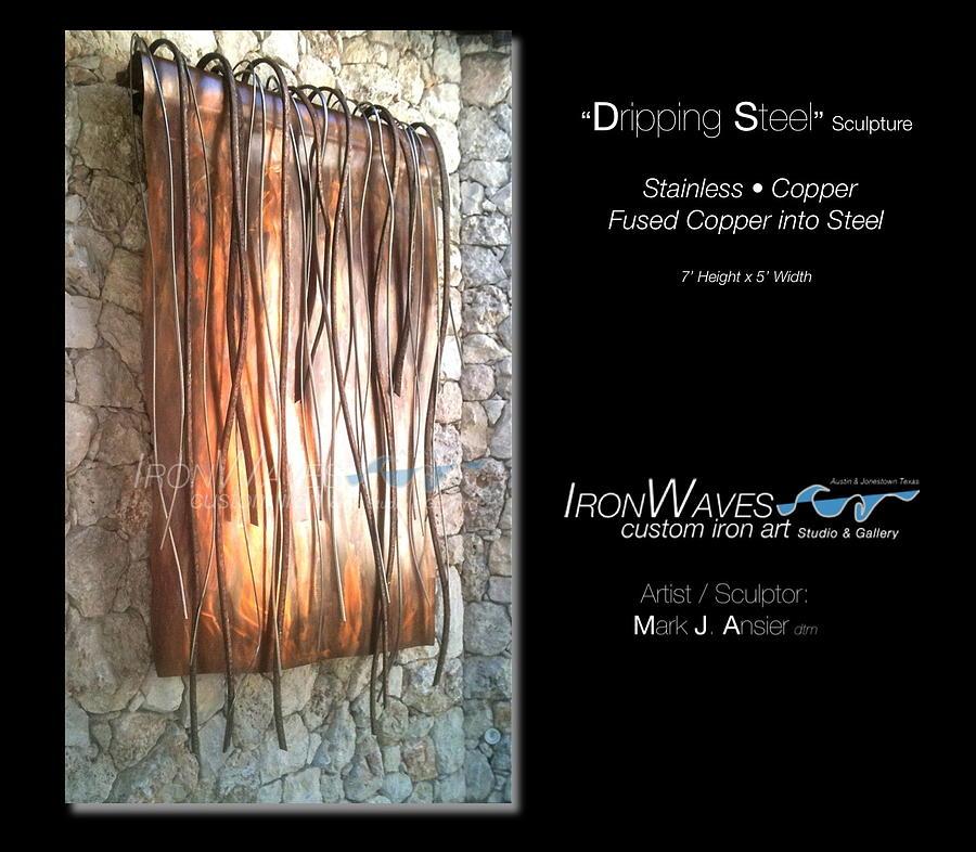 Dripping Steel Sculpture