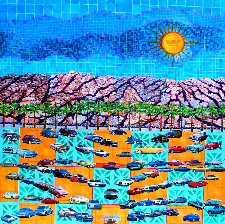 Drive 75 Palm Springs Auto Biography Mixed Media  - Drive 75 Palm Springs Auto Biography Fine Art Print