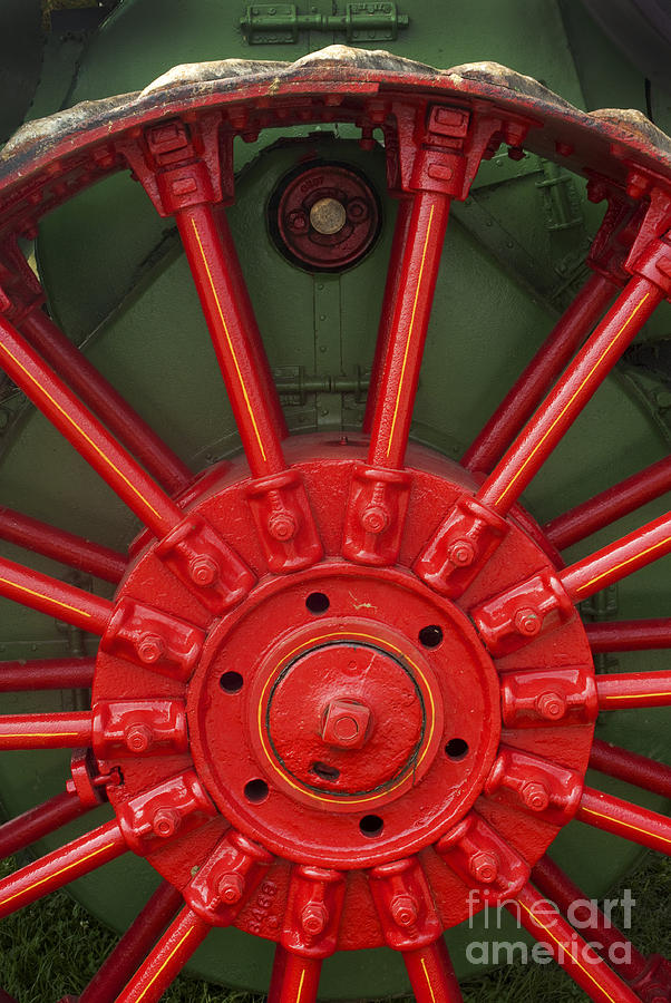 Tractor Photograph - Drive Wheel by Paul W Faust -  Impressions of Light