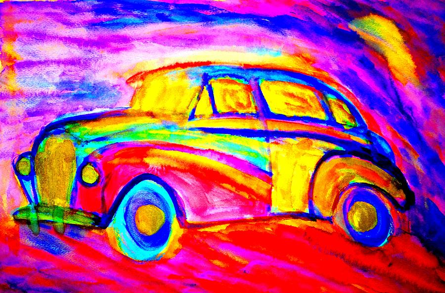 Driving Home  Painting  - Driving Home  Fine Art Print