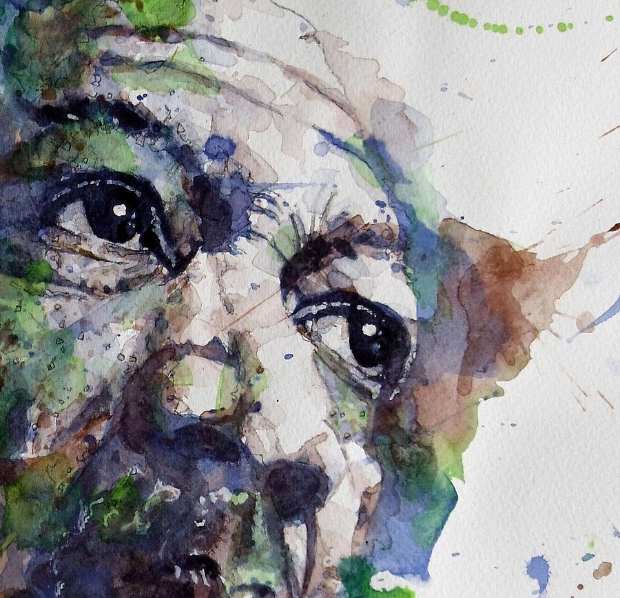 Morgan Freeman  Painting - Driving Miss Daisy by Paul Lovering